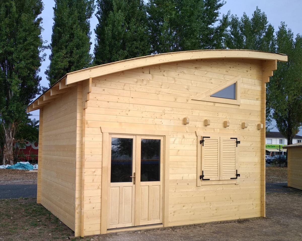 Abri De Jardin Habitable chalet aquitaine de 20 m²