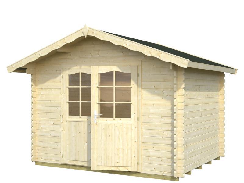 Abri de jardin vivian 6 9 m avec plancher bois - Abri de jardin en bois avec plancher ...