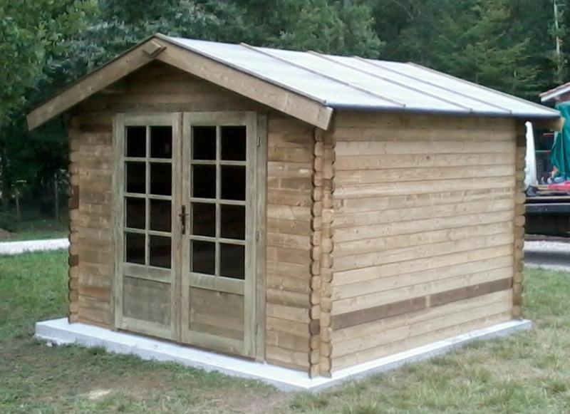 Abri de jardin bois traité autoclave 9 m² en 28 mm