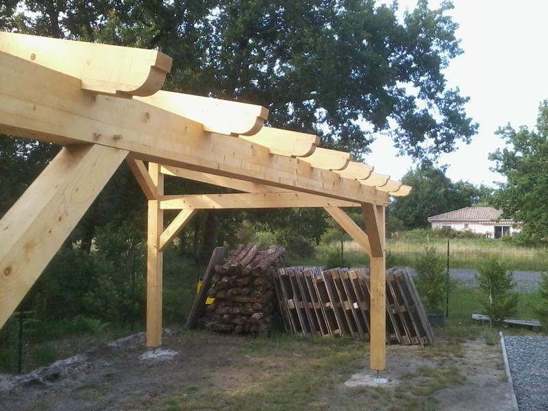 Auvent adossable mono pente 20 m for Ajouter garage contre maison