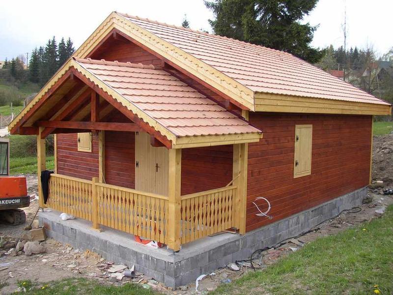 Chalet habitable en bois de 36 m marin eco bois for Chalet en bois de jardin