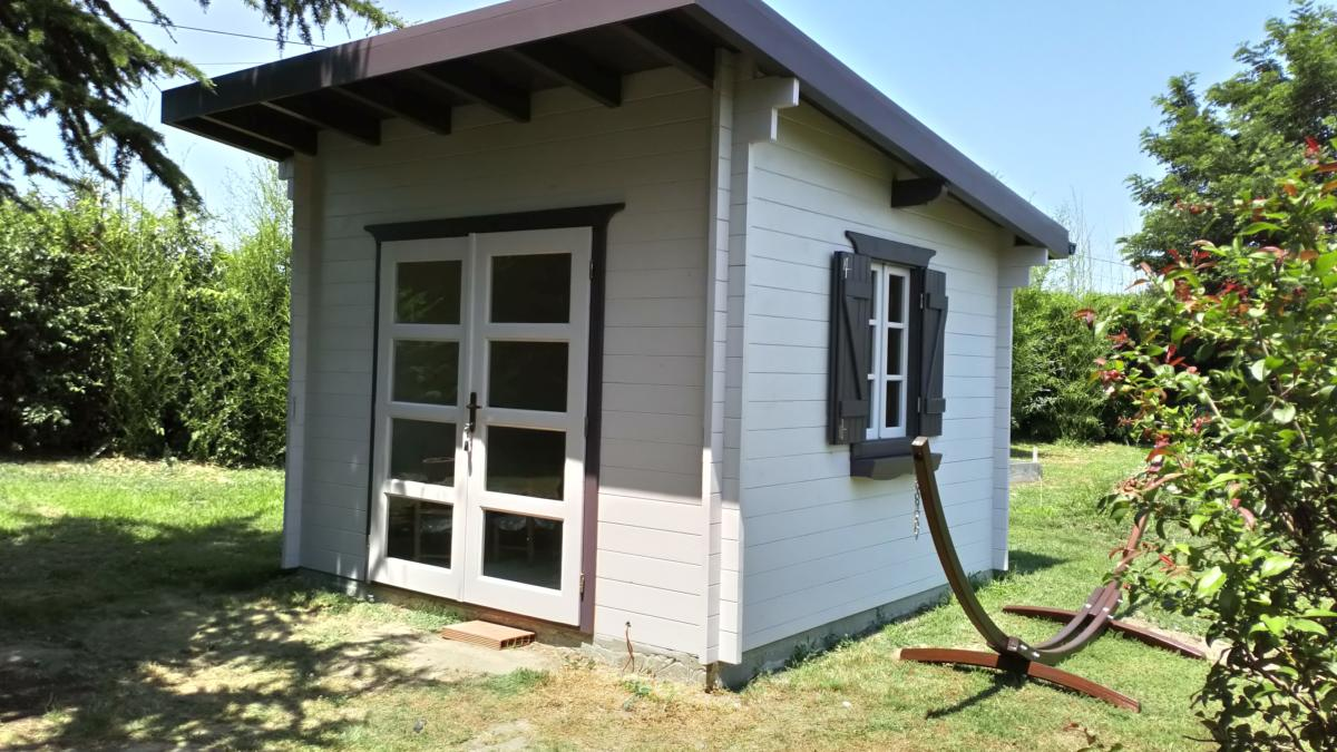 Abri De Jardin Composite abri bois mono pente 9 m² épaisseur 42 mm
