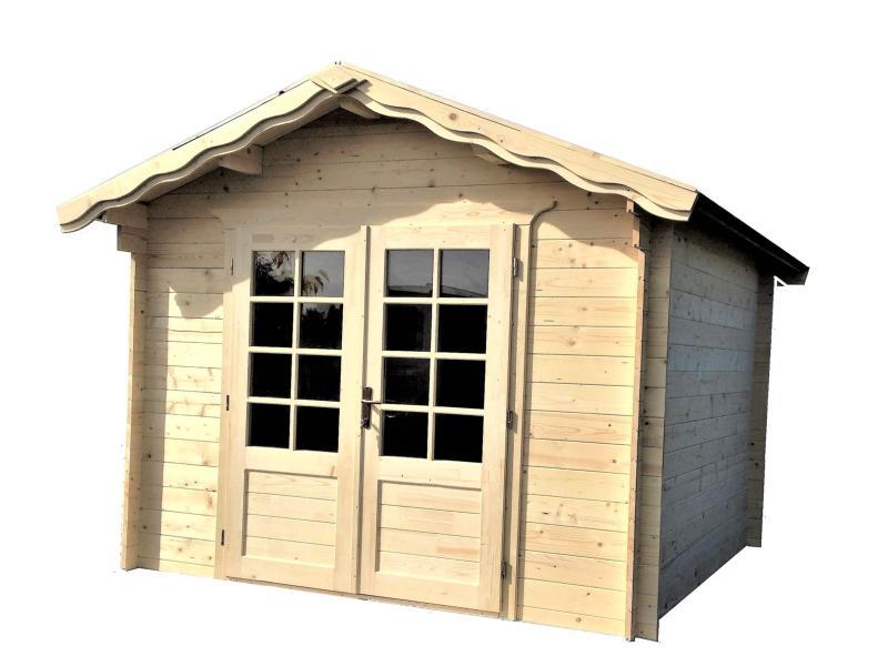 Abri de jardin en bois vente abri de 9 m en 28 mm - Abri de jardin solde ...