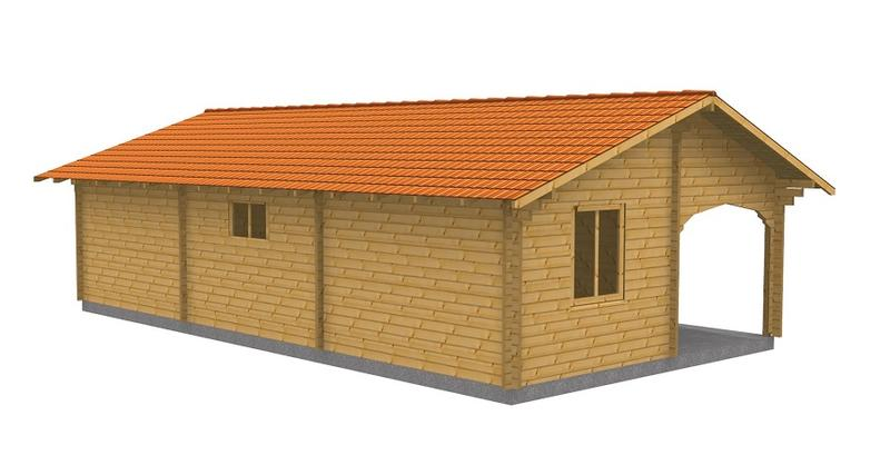 Chalet en bois de 61 m en paisseur madriers de 60 mm for Chalet en bois solde