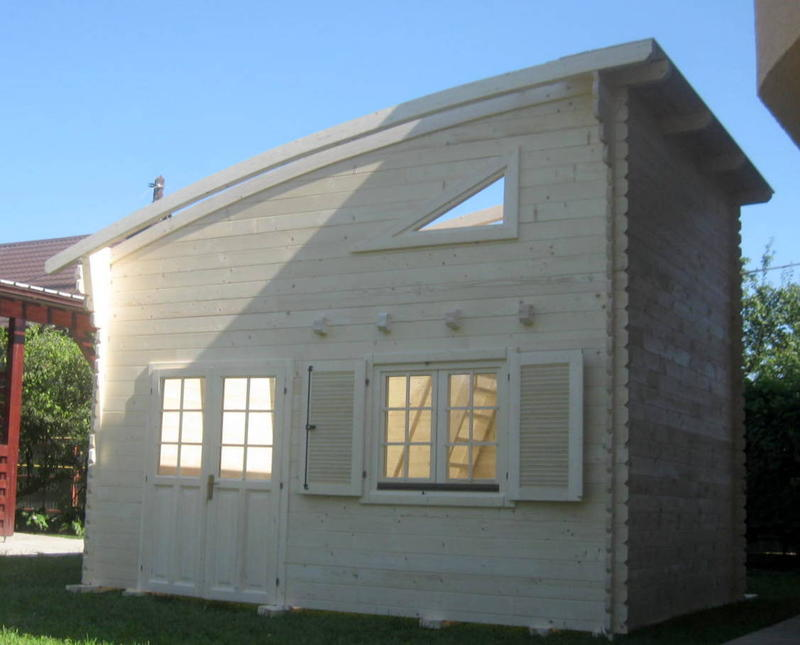 Chalet Bois En Kit 20m2 Habitable Avec Mezzanine