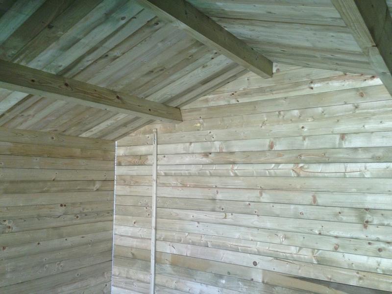 garage bois trait autoclave pas cher. Black Bedroom Furniture Sets. Home Design Ideas