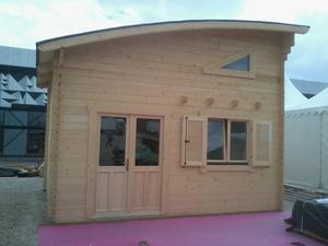 Chalet habitable bois vente de 20 m avec mezzanine for Chalet en bois avec mezzanine