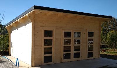 Abri de jardin en bois 20 m² mono pente