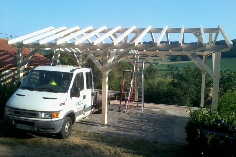 Carports For Cars 8 : Carport en bois vente d un abri voiture m