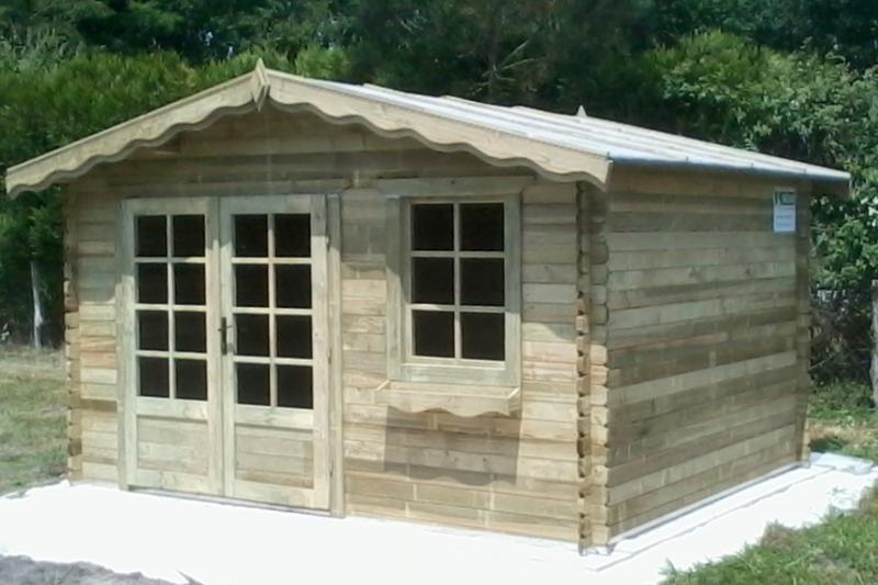 abri de jardin autoclave 13 m paisseur madrier 34 mm trait. Black Bedroom Furniture Sets. Home Design Ideas