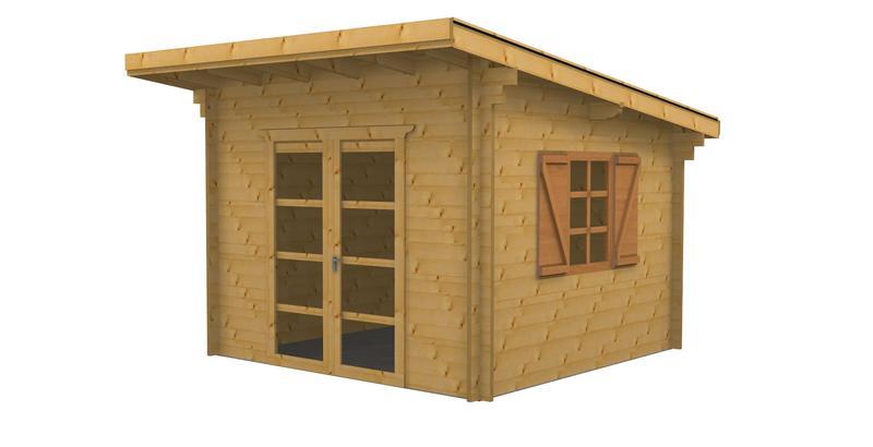 abri de jardin en bois monopente Abri bois mono pente 9 m² épaisseur 42 mm